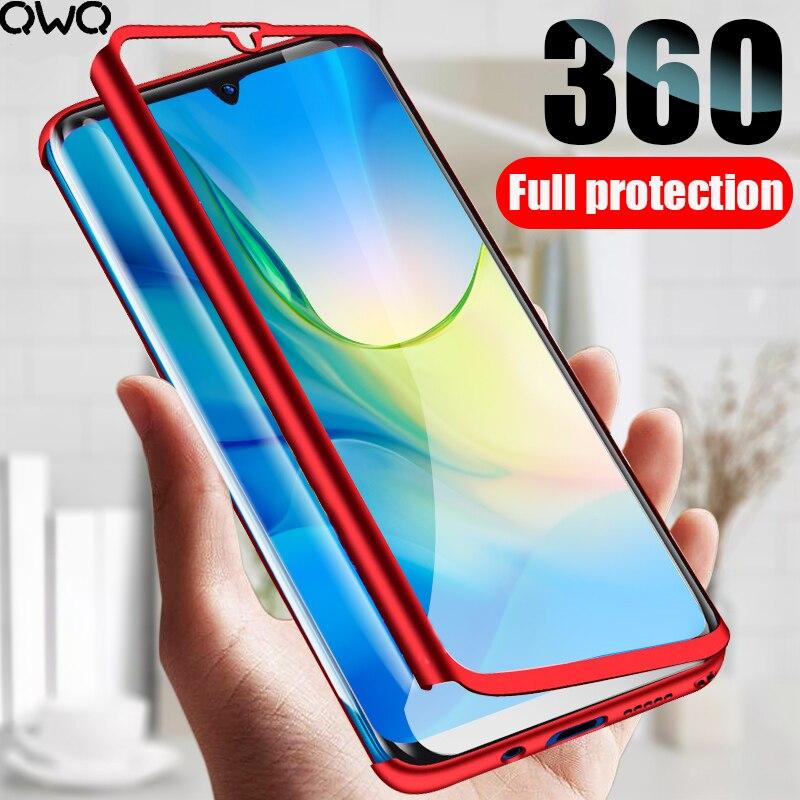 Funda protectora cobertura completa 360 para Huawei P20 P10 P30 Lite Mate 10 20 Pro 20X funda P Smart 2019 Nova 3 Honor 8X