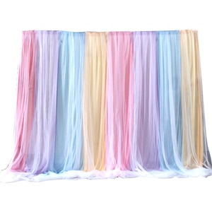 New Fancy Color Wedding Backdrop Curtain Stage Background Photo Booth Our Door Wedding Curtains Event Party Decoration