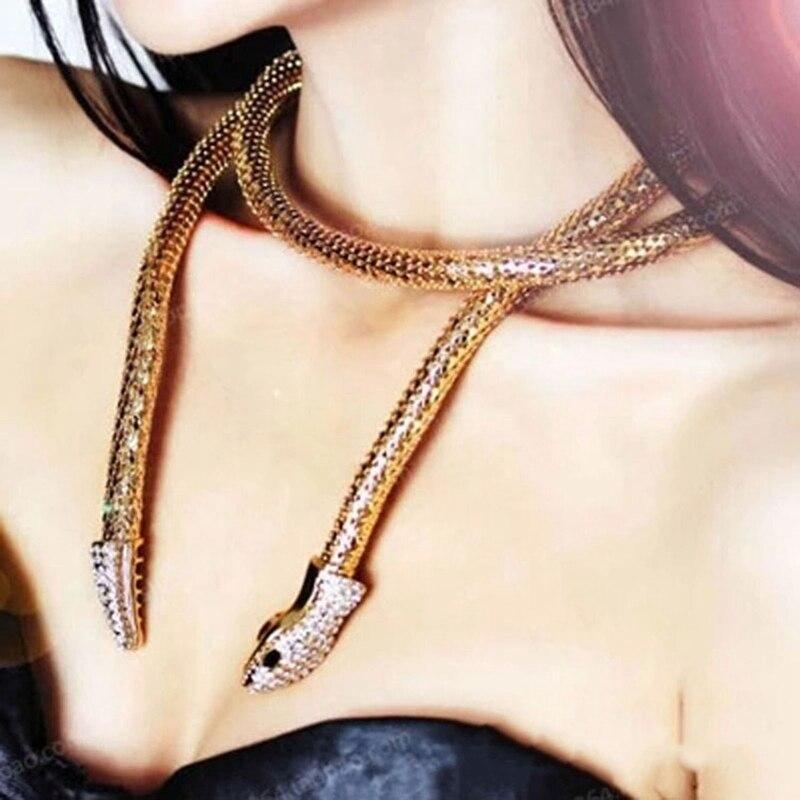 Collar gótico navideño de serpiente para Mujer, Gargantilla, collar, joyería estética, cadena...