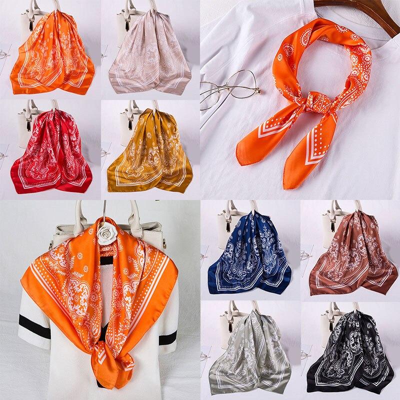 Элегантные женские шифоновые длинные шарфы, Универсальные женские аксессуары
