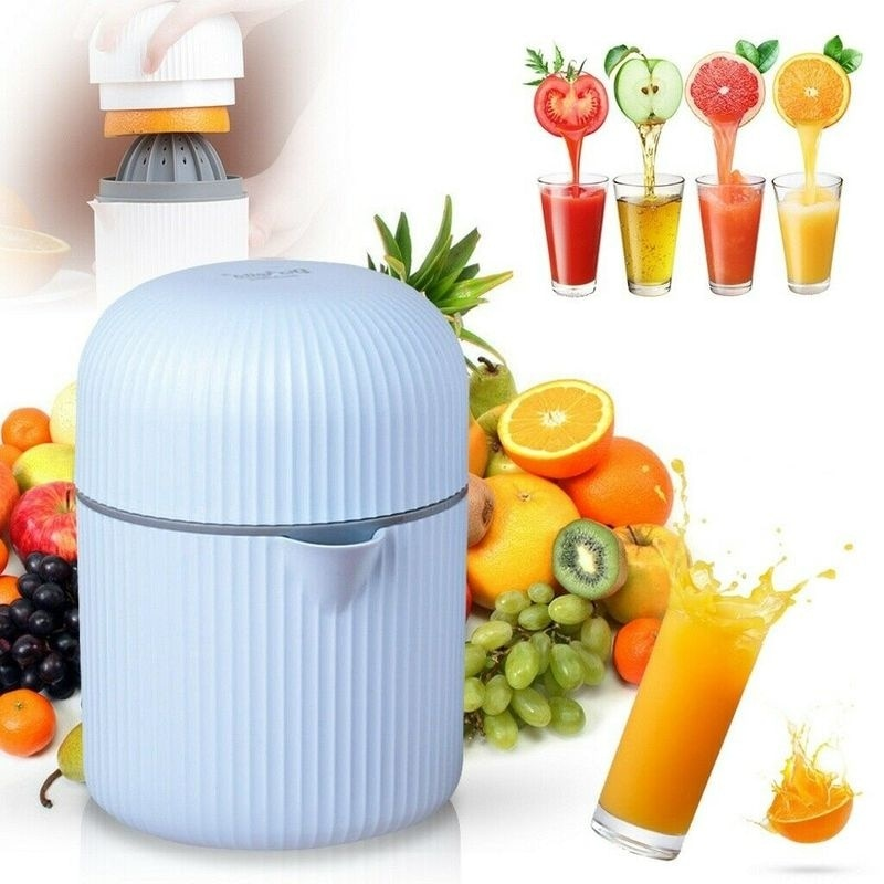 400ML Portable Citrus Manual Juicer Press Squeezer Lemon Orange Juice Fruit Extractor Maker Machine Cup Tool Blue Pink White