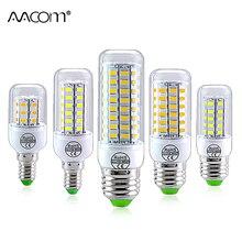 E14 E27 Bombilla LED 220V 24 36 56 72 LED ampolla lámpara LED SMD 5730 Bombilla de maíz Bombilla ahorro de energía sin parpadeo para la cocina