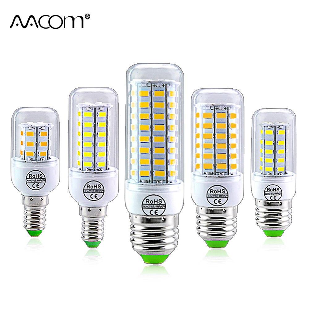 E14 E27 LED Bulb Light 220V 24 36 56 72 LEDs Ampoule LED Lamp SMD 5730 Corn Bulb Bombilla Energy Saving No Flicker For Kitchen
