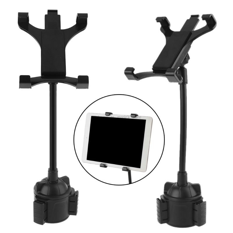 Universal Gooseneck Car Cup Holder Mount with Adjustable Flexible Neck Cradle for ipad Air/Mini and more 7-12