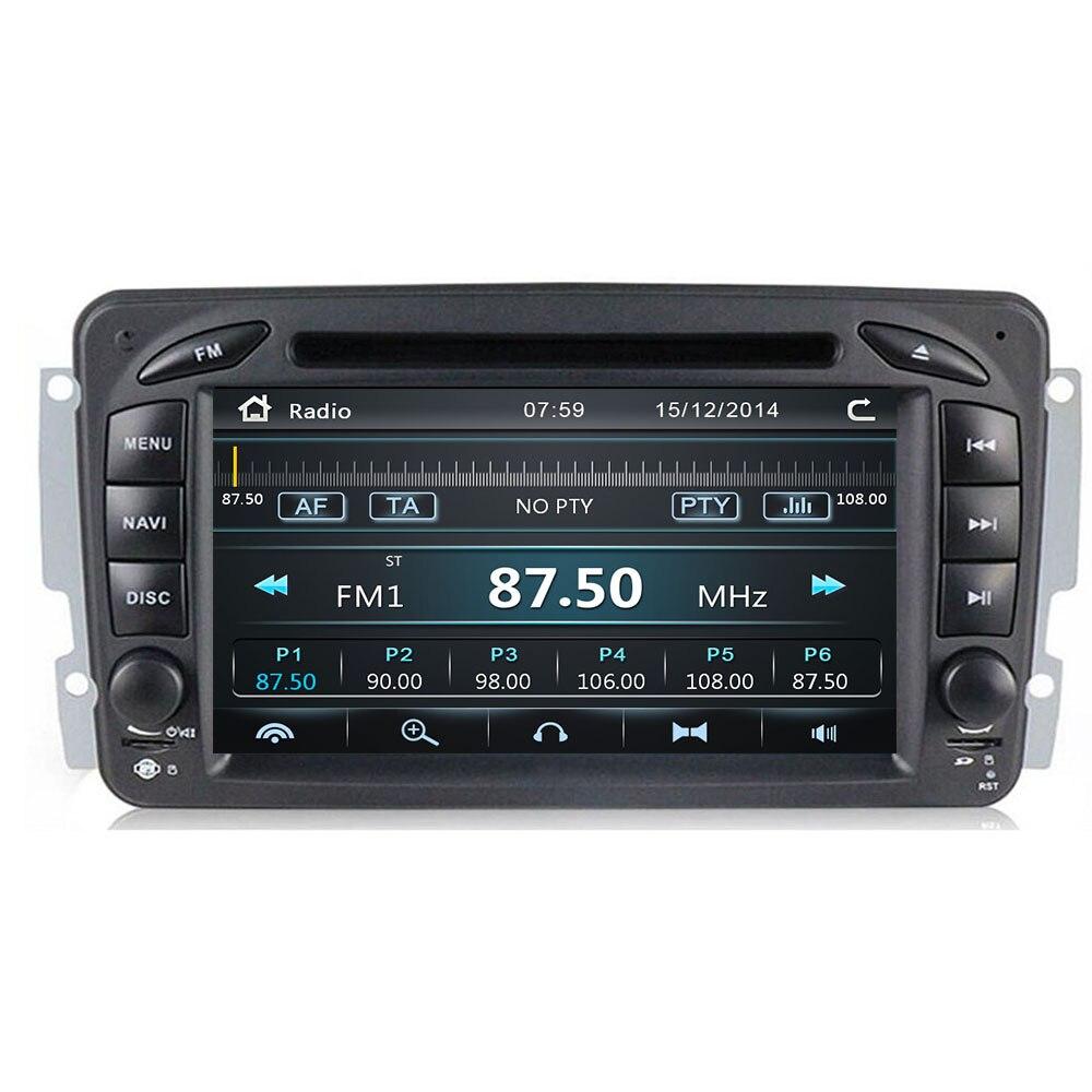 Reproductor de DVD para coche de 7 pulgadas, 2din, para Mercedes Benz W209 W203 W168 W463 Viano W639 Vito Vaneo 3g, GPS, BT, Radio USB, SD, Canbus, con mapa de 8GB