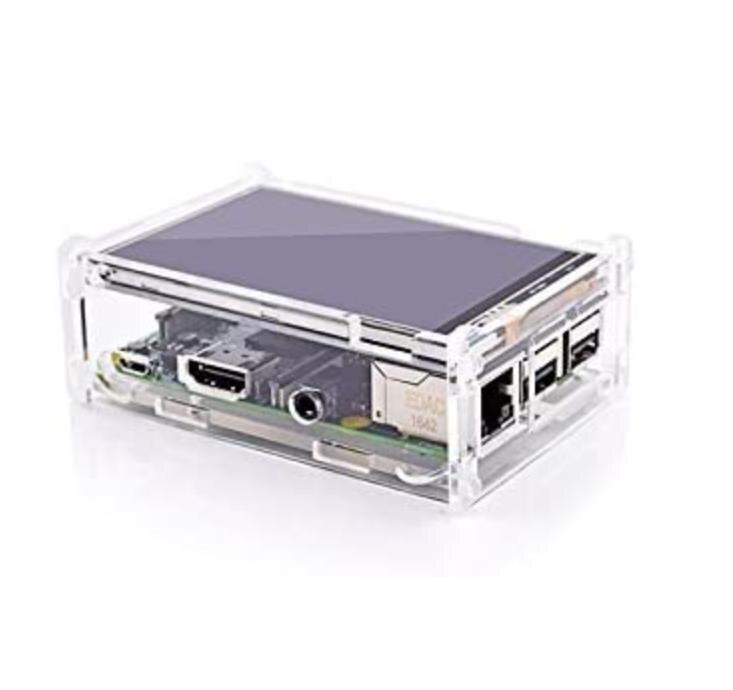 "Besten Preis Original 3.5 ""LCD TFT Touch Screen Display für Raspberry Pi 4B / Raspberry Pi 3 Modell B board + Acryl Fall + Stylus"