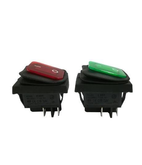 مفتاح مكنسة كهربائية مقاوم للماء ، 16 أمبير/250 فولت ، 23 أمبير/277 فولت