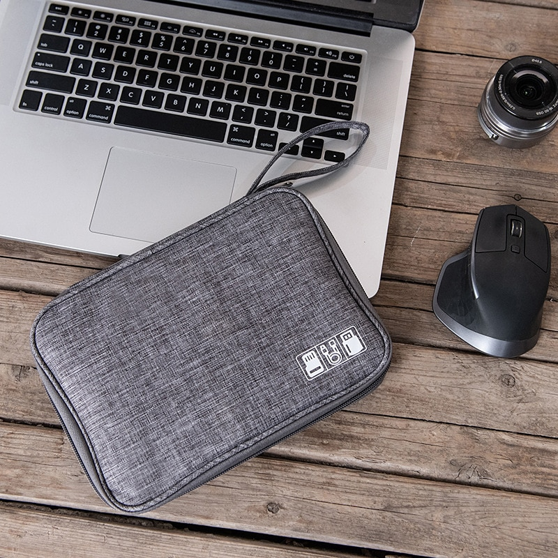 Data Line Storage Bag Power Bank Mobile Phone Sorting Pouch Hard Disk Case Small Items Organizer Traveling Supplies Accessories