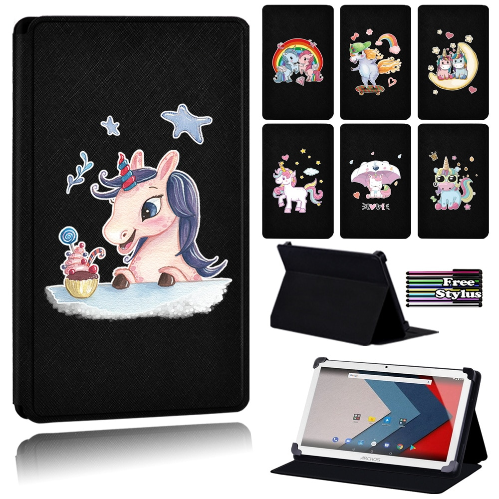 Case for Archos 101 101b(101d Platinum/Oxygen)/101e Neon/access 101 3g/101 Wifi/Oxygen 101 S/T80 Dust-proof Unicorn Tablet Case hot in stock archos 50e neon case 6 colors luxury ultra thin leather exclusive for archos 50e neon phone cover tracking