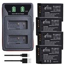 4 stücke LP E17 LPE17 LP E17 Batterie und LED Dual Ladegerät für für Canon EOS 200D M3 M6 750D 760D t6i T6s 800D 8000D Kuss X8i Kameras Digitale Batterien    -