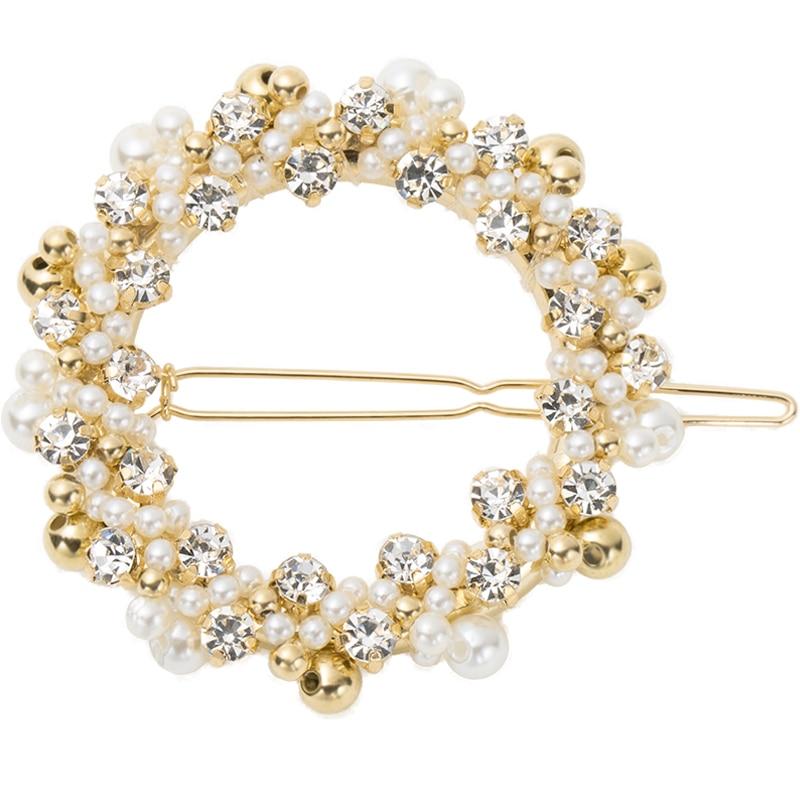 KVJE Pearl Hair Clip for Women 2019 New Product Princess Girls Hair Accessories  Fur Headband  Chris