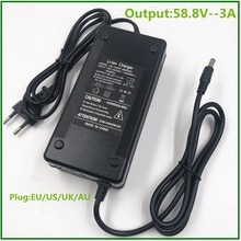 58.8V 3A Battery Charger For 14S 48V Li-ion Battery electric bike lithium battery Charger High quali
