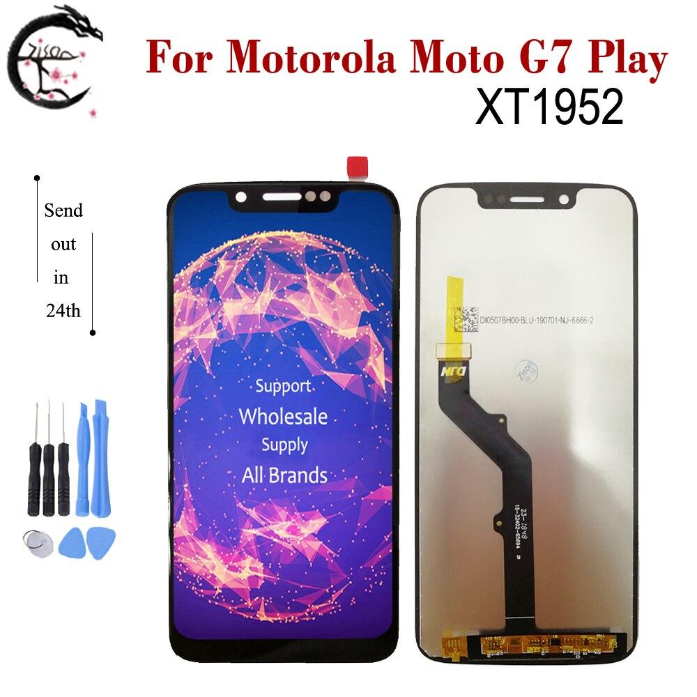 """5,7 """"Nuevo LCD para Motorola Moto G7 jugar XT1952 pantalla LCD pantalla táctil digitalizador para Motorola G7play XT 1952 pantalla"""