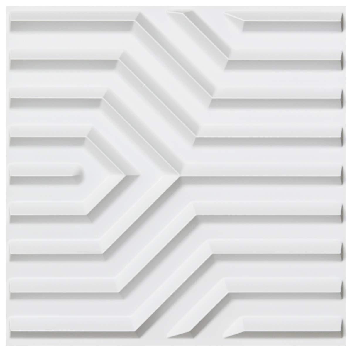 50x50 سنتيمتر ثلاثية الأبعاد لوحات الحائط البلاستيكية هندسية ماتي نمط حزمة من 12 البلاط لغرفة النوم المعيشة ديكور جدار الغرف
