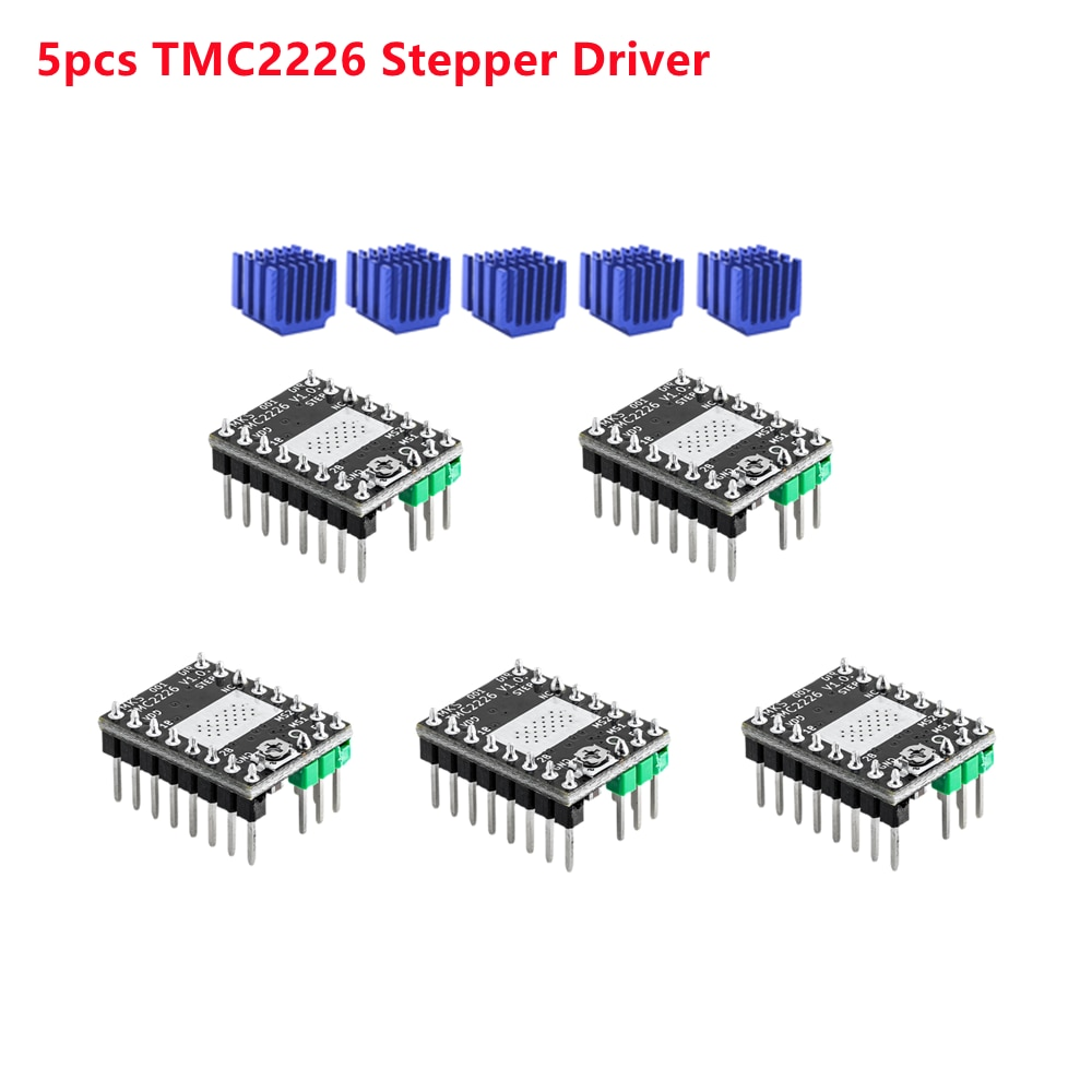 MKS TMC2226 السائر سائق TMC 2226 ستيبستيك المحرك خطوة تحكم ثلاثية الأبعاد أجزاء الطابعة نك درع خطوة السائقين وحدة