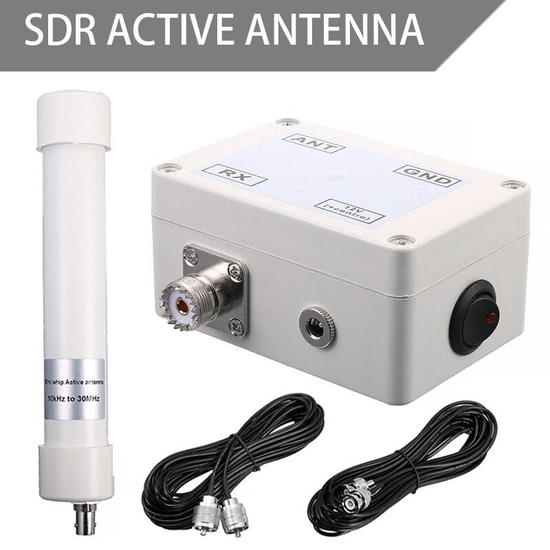 Mini antena activa látigo VLF LF HF VHF SDR amplificador de señal aérea con Cable de conexión 10KHz-30MHz BF998 BCX54 Semiconductor