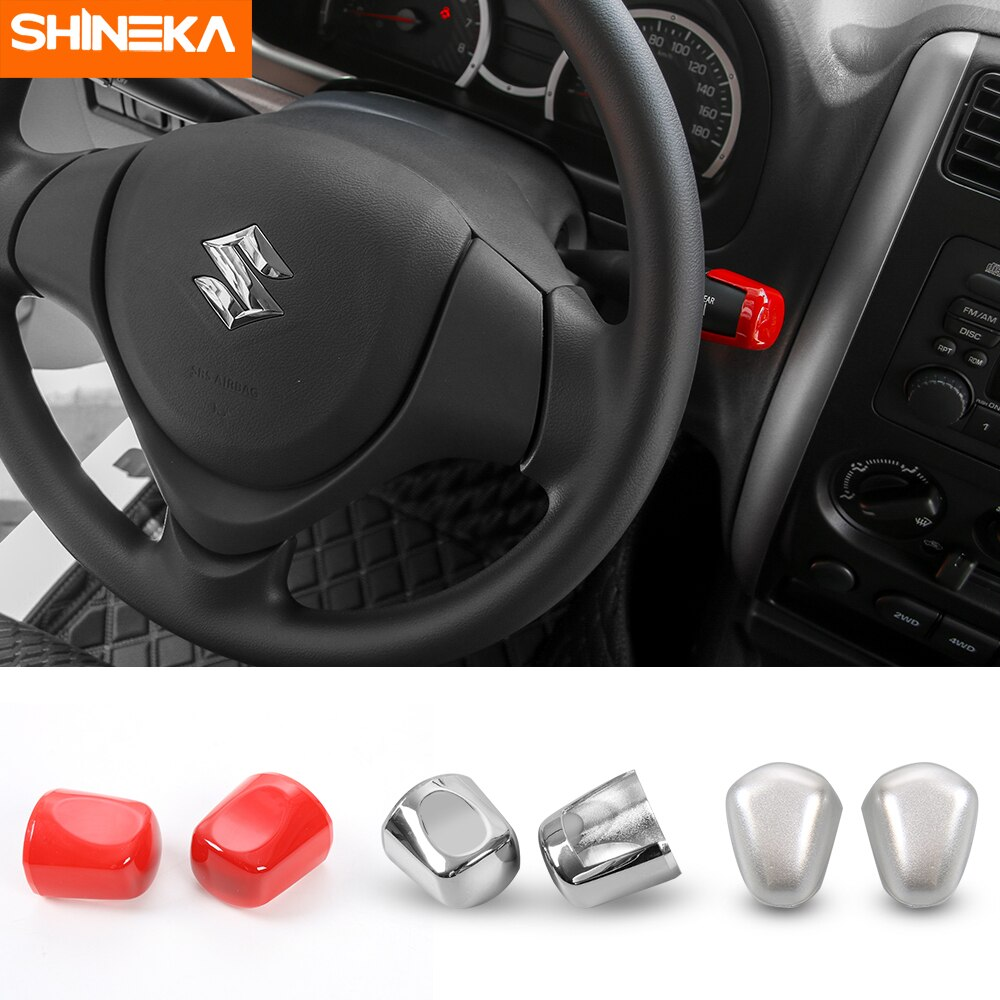 SHINEKA estilo de coche para Suzuki Jimny 2019-2007 accesorios de coche limpiaparabrisas palanca a Control de señal tapicería decorativa anillo marco