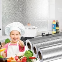 various sizes of kitchen waterproof oil paper kitchen aluminum foil cabinets self adhesive diy wallpaper