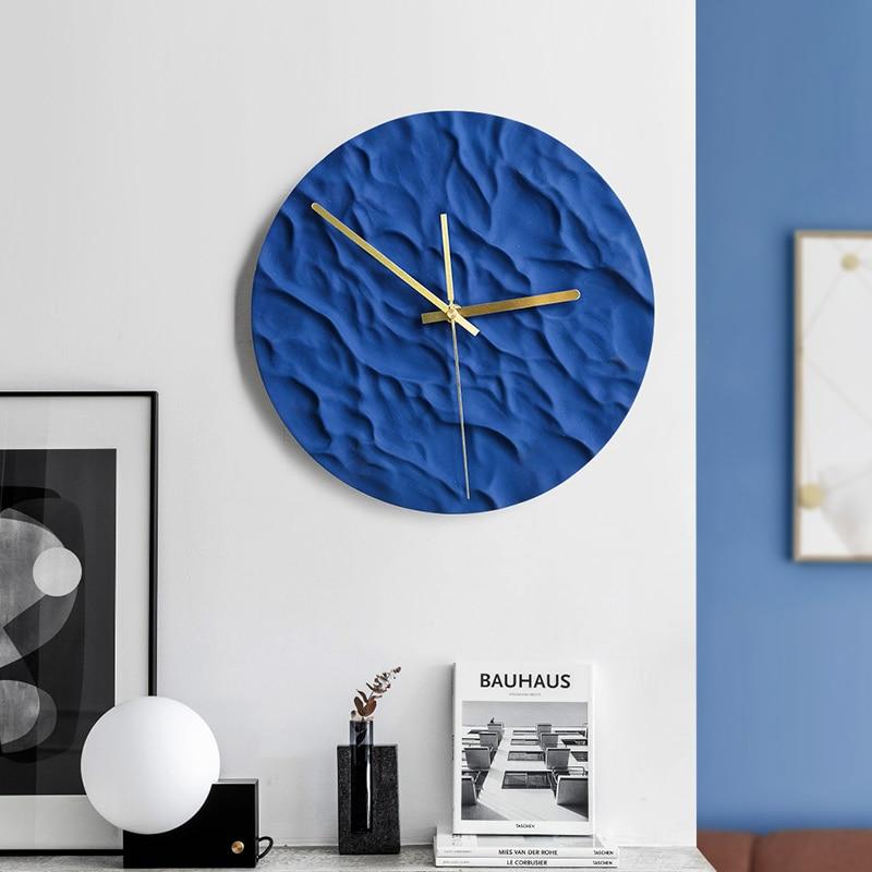 Nordic luxo parede clcok cerâmica grande silencioso simples relógios de parede vogue sala estar design moderno reloj mural casa relógios ac50al