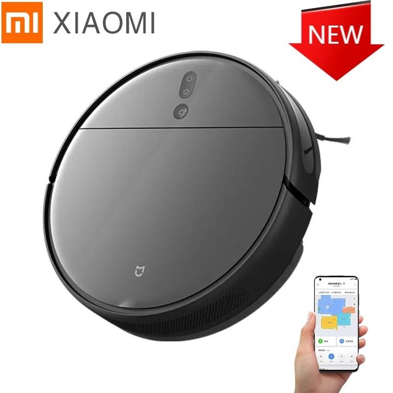 Xiaomi-مكنسة كهربائية روبوت Mijia 1T S-cross ثلاثية الأبعاد ، مع تجنب العقبات ، غسيل لاسلكي ، إعصاري ، شفط 2020 Pa ، 3000 mAh ، 5200