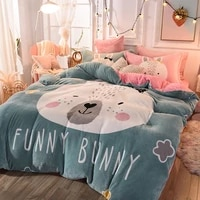 warm flannel blankets air condition sleeping blanket bed sheet pillowcases ab double side