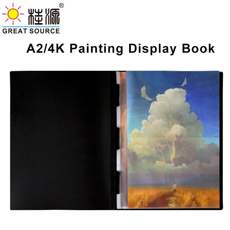 4K Дисплей книжной графике, презентация книги 10 прозрачные карманы Folder47.5 * 615 мм (18,7
