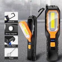 Werk Licht Met Magneet Led Auto Onderhoud Licht Usb Opladen Highligh Anti-Drop Emergency Lamp