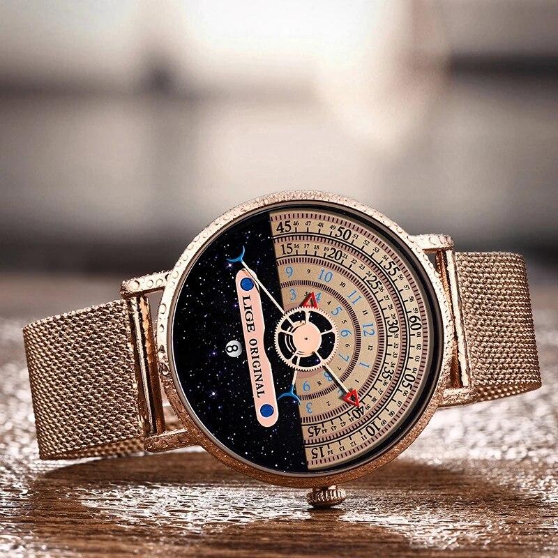 LIGE 2021 New Fashion Sports Women Watches Top Brand Luxury Waterproof Simple Ultra-Thin Watch Lady Quartz Clock Relogio Feminin enlarge