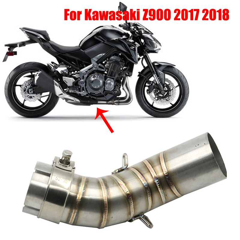 Silenciador de Escape antideslizante para motocicleta, tubo de conexión central para Kawasaki Z900 2017 2018 Z900A2 Z900 A2 2018 Z 900, antideslizante