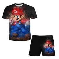 childrens sportswear 3dthe clothes children like to wear 4t 12t boys and girls suits game prints