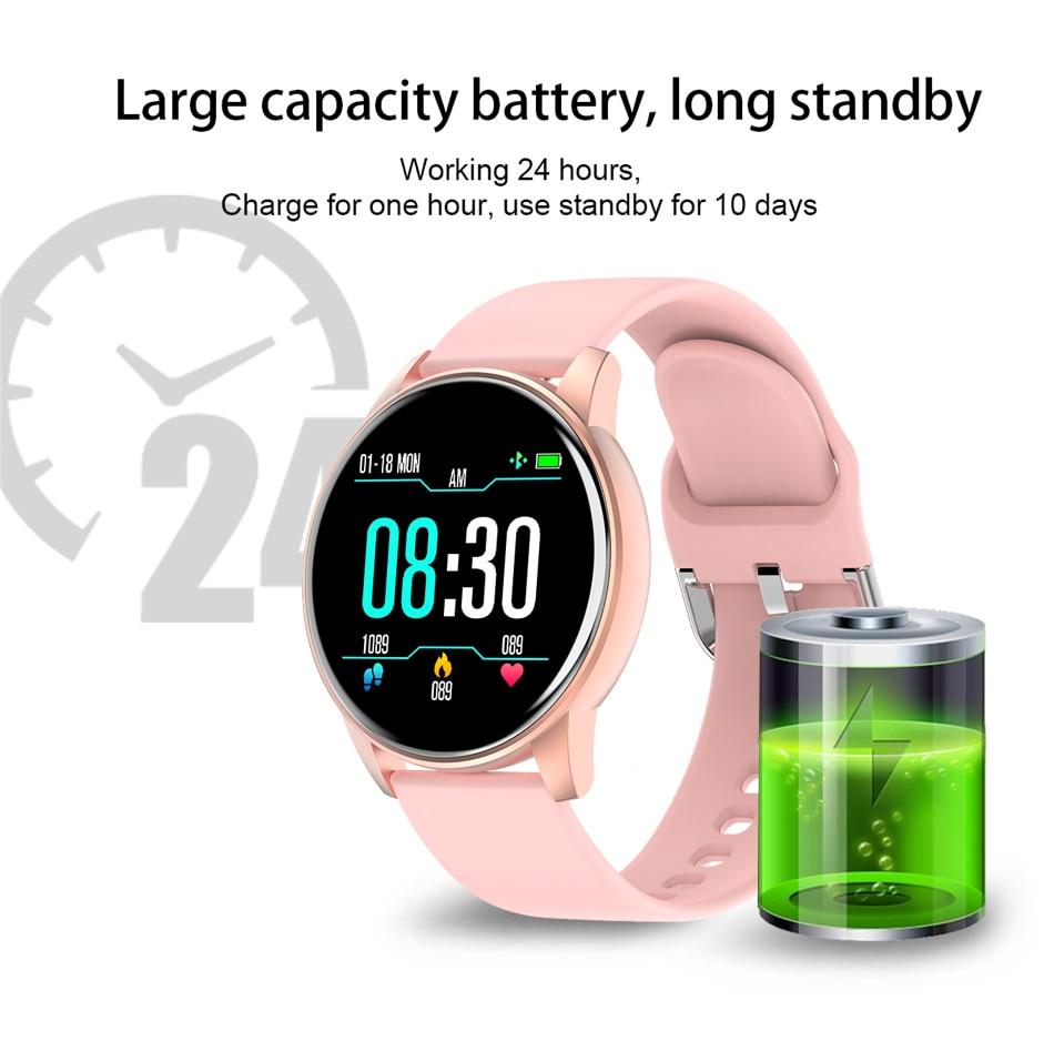 LIGE Fashion Sports Smart Watch Women Men Fitness tracker Heart rate monitor Blood pressure function smartwatch man For iPhone enlarge