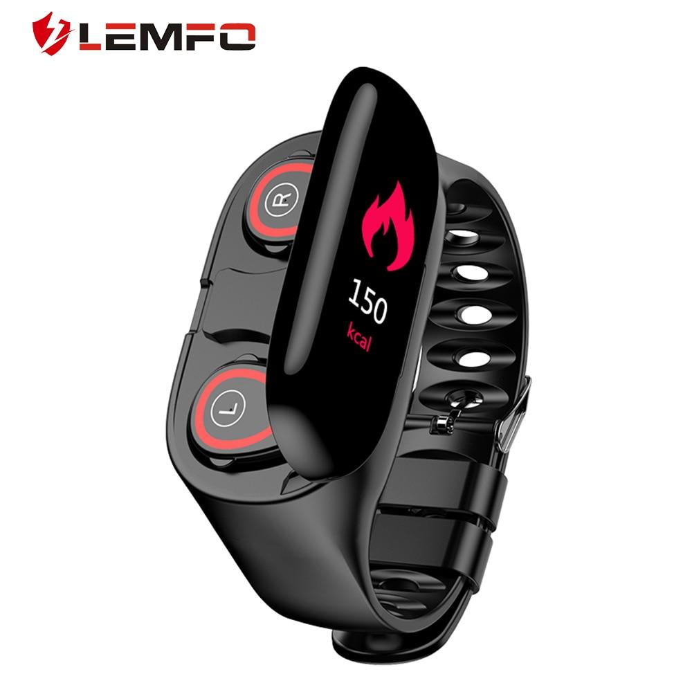 LEMFO M1 Plus AI Smart Watch with Bluetooth Headphones Heart Rate Monitor Smart Bracelet Long Standby Sport Mens Watch