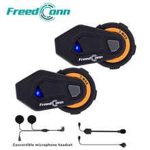 FreedConn T-max Motorcycle Helmet Intercom 6 Riders Bluetooth Headset with FM Radio Moto Intercomunicador