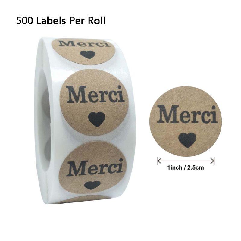 500pcs-roll-kraft-merci-francese-grazie-etichette-adesivi-busta-cornici-e-articoli-da-esposizione-di-tenuta