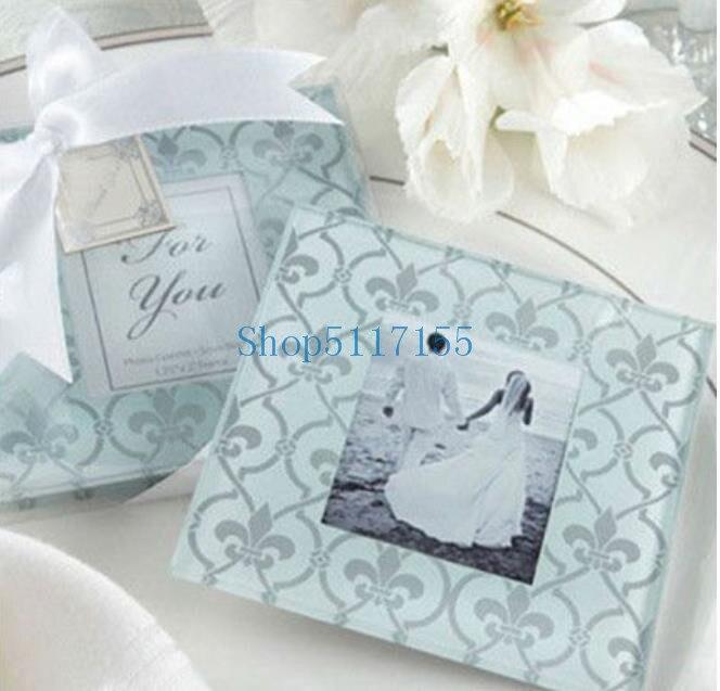 Porta-copos de Vidro Moldura da Foto Favores do Casamento Conjuntos – Lote Clássico Presentes 120 = 240 Pçs