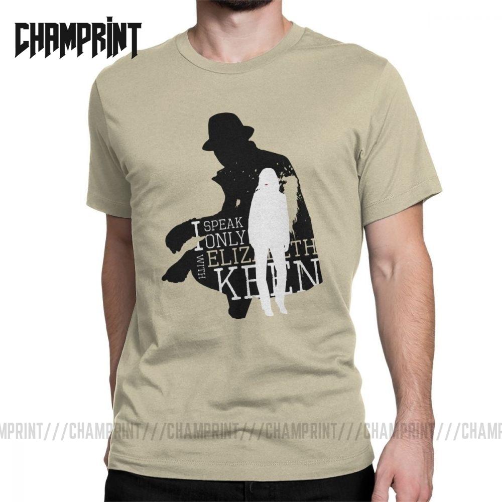 "Camiseta Reddington Raymond de manga corta de algodón con el lema ""I Speak Only With Lizzy The Blacklist"" para hombre"
