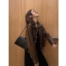 Automne et hiver nouveau style court PU petit cuir femmes en vrac BF rétro Hong Kong saveur veste veste plus velours épais