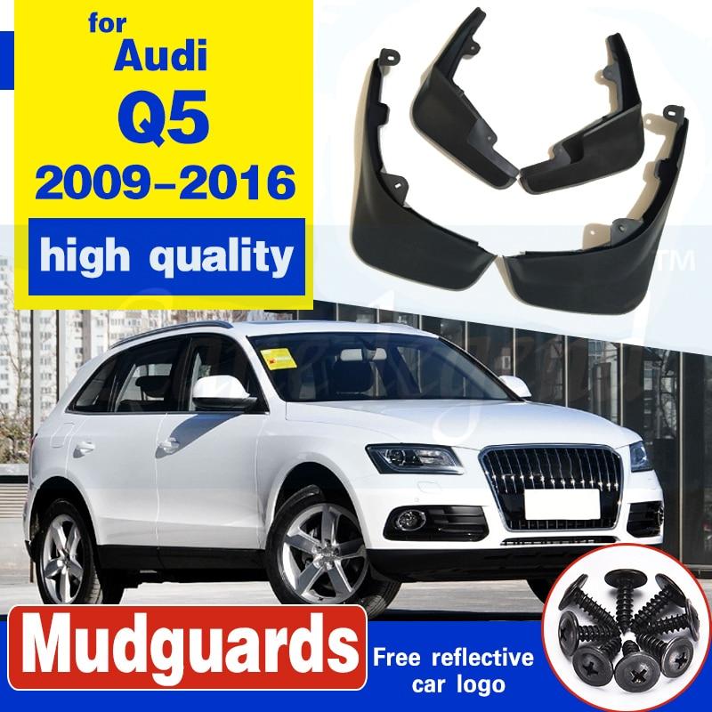 Fit For Audi Q5 2009-16 Molded Mudflaps Mud Flap Flaps Splash Guards Fender 2015 2014 2010-2013 Front Rear Accessories