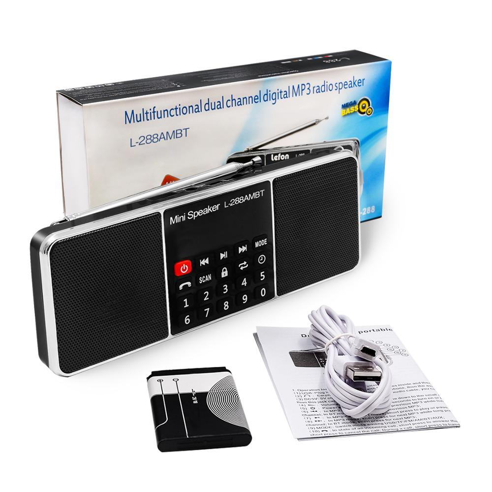Digital Portable Radio AM FM Bluetooth Speaker Stereo MP3 Player TF/SD Card USB Drive Handsfree Call LED Display Speakers
