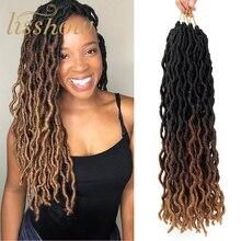 Extensions de cheveux ondulées au Crochet   Extensions de cheveux, cheveux humains, déesse Ombre, Freetress, bouclés, couleur Nu Loc Faux Locs