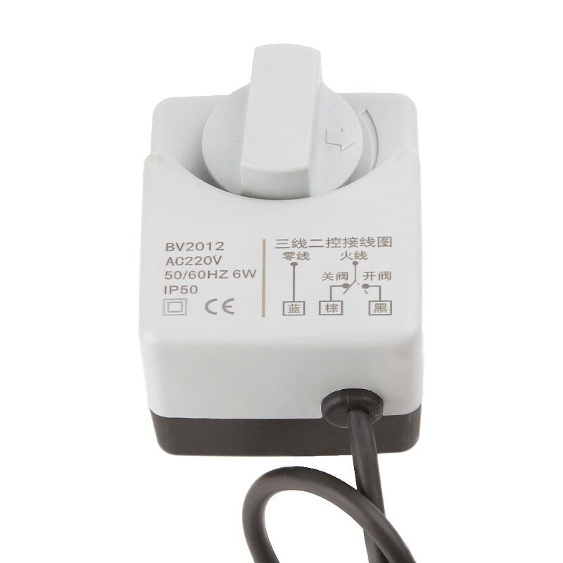 AC220V DN15 DN20 DN25 2 طريقة 3 أسلاك النحاس صمام كروي مزود بمحرك الكهربائية Actuato مع مفتاح يدوي