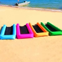 self inflated floating bed swimming pool summer water lazy inflatable sofa seaside beach mattress floating row without air pump