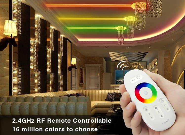 FUT025 Miboxer DC12-24V 2.4G Wireless Touch screen led RGB controller 18A RF remote control for led RGB strip/bulb/downlight/tap 2 4g touch screen led rgb rgbw controller wireless dc12 24v touch rf control for rgb rgbw led strip 18a remote controller