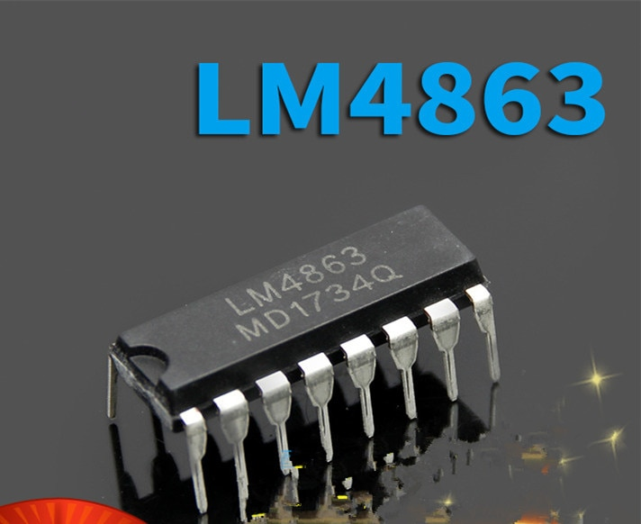 50 teile/los LM4863N DIP-16 Auf Lager Beste qualität