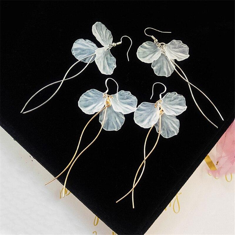 Flor pendientes borla del temperamento pendientes largos geométricos colgantes acrílico moda mujer accesorios joyería pendientes Hada 2020
