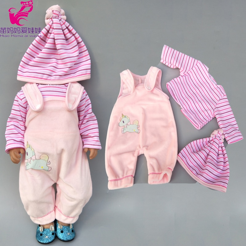 "Apto para ropa de muñeco de bebé de 43cm, abrigo y pantalones apretados para chaqueta de muñeca de 18 "", ropa de juguete para muñeca infantil"