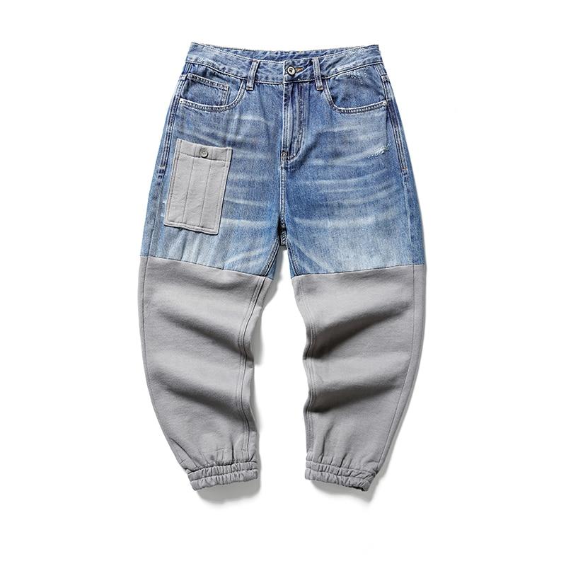 Мужские джинсы, мужские джинсы, Мужские штаны, корейские джинсы, брюки, джинсовые брюки, джинсовые брюки, мужские синие повседневные шаровар...
