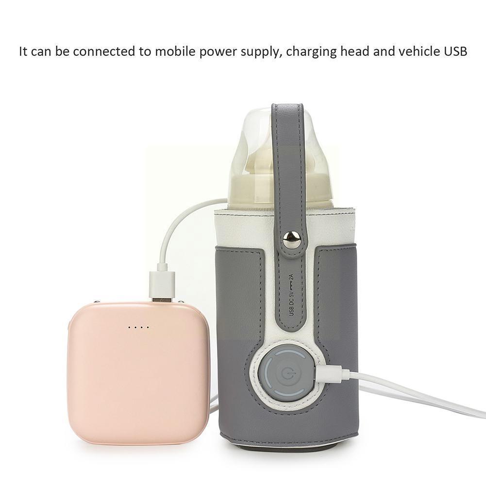 USB Baby Bottle Warmer Portable Travel Milk Warmer Warmer Bag Warmer Baby Thermostat Heating 5.0 Food Bottle