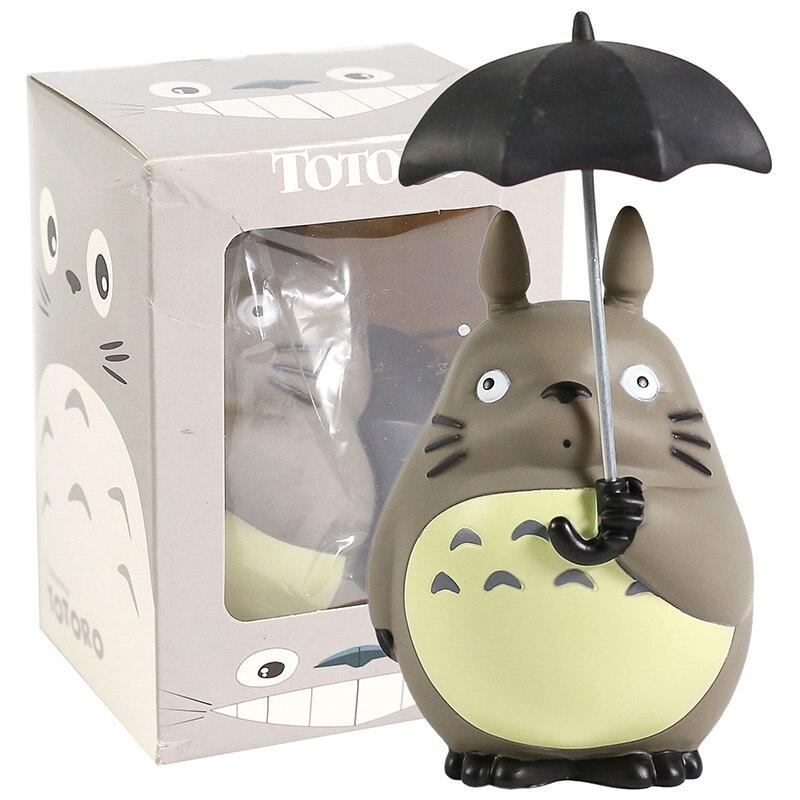 Миядзаки Хаяо Мой сосед Тоторо с зонтом ПВХ фигурка Коллекционная модель игрушки