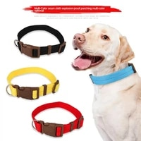 pet collar nylon multicolor optional neck strap dog stitching traction rope adiustable 4 sizes dog chain for small medium dogs